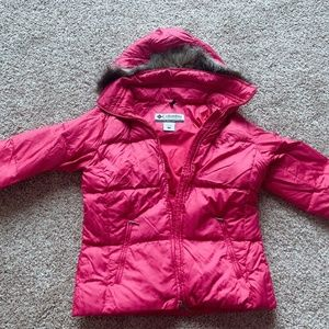 Columbia down jacket women size M as NEW